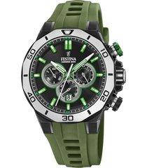 reloj chrono bike verde festina