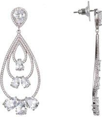nina layered teardrop earrings