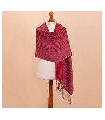 100% alpaca shawl, 'gorgeous pattern' (peru)