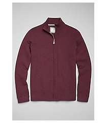 1905 collection cotton full-zip men's sweater - big & tall