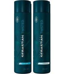 kit twisted elastic detangler sebastian shampoo + condicionador
