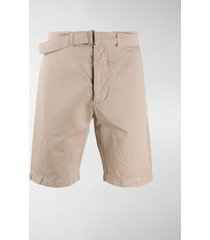 officine generale belted chino shorts