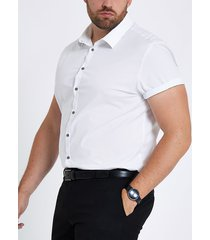river island mens big and tall white poplin slim fit shirt