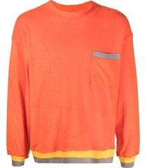 anglozine pocket-detail sweatshirt - orange