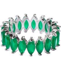 anel aliança navetes the ring boutique pedras cristais verde esmeralda ródio ouro branco