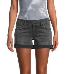 hudson women's ruby mid-rise denim shorts - marion - size 31 (10)