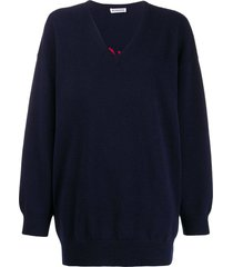 cashmere v-neck knitted sweater