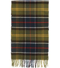 barbour yaxley tartan wool scarf