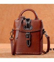 borsa a secchiello per borsa a tracolla vintage vintage in vera pelle di alta qualità