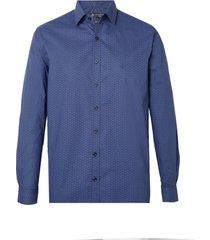 camisa dudalina manga longa tricoline estampa gravataria masculina (estampado, 7)