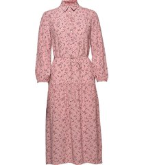 d1. multi floral shirt dress jurk knielengte roze gant