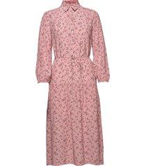 d1. multi floral shirt dress jurk knielengte roze gant
