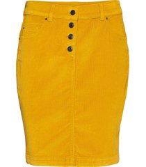 skirts woven kort kjol gul esprit casual