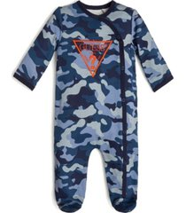guess baby boys long sleeve footie