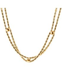 flexible golden links necklace