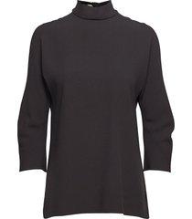 babeca blouse lange mouwen zwart boss