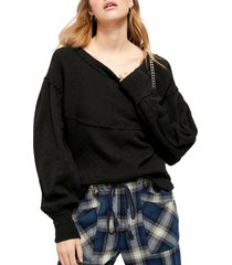 women's free people og thermal pullover, size small - brown