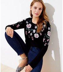 loft floral embroidered sweatshirt
