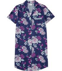 camicia da notte in cotone biologico con bottoni (blu) - bpc bonprix collection