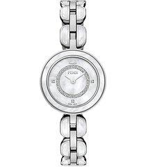 my way stainless steel & diamond bracelet watch