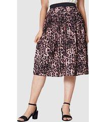 plisserad kjol sara lindholm röd/cerise/svart
