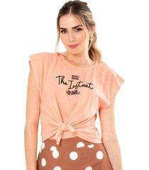 camiseta instant naranja ragged pf51120519