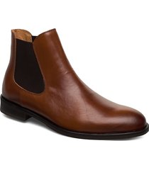 slhlouis leather chelsea boot b noos shoes chelsea boots brun selected homme