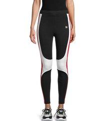colorblock cotton-blend leggings