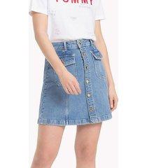 falda mezclilla gaby azul tommy hilfiger