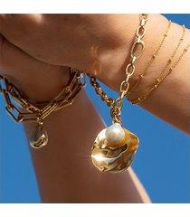 nura shell and pearl bracelet set