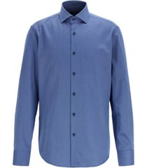 boss men's gordon regular-fit two-colored cotton twill shirt
