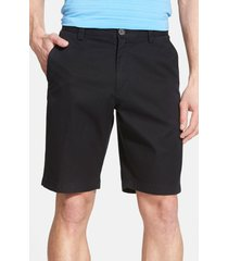 men's cutter & buck 'beckett' shorts, size 38 - black (online only)