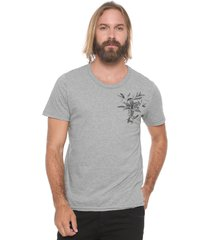 camiseta sommer floral cinza - cinza - masculino - algodã£o - dafiti