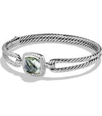 women's david yurman albion bracelet with semiprecious stone and diamonds