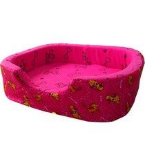 cama para perro tipo cuna mediana - rosa