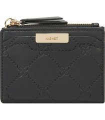 billetera nine west  kennedy slim zip wallet- negro