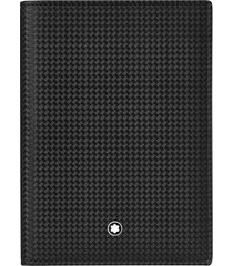 montblanc extreme 2.0 leather passport case - black