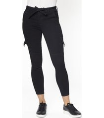 juniors' mid rise self belt cargo skinny jeans