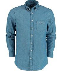 gant overhemd indigo denim rf 3040520/980