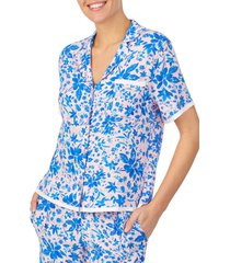 women's room service print pajama top, size xx-large - pink (nordstrom exclusive)