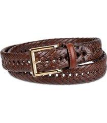 club room big & tall braided leather belt