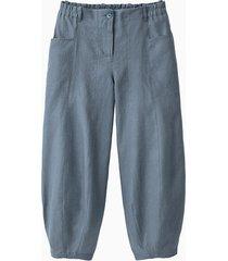 linnen 7/8-broek, rookblauw 38