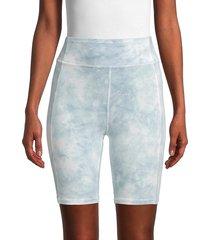 grey state women's tie dye everly shorts - blue - size xs