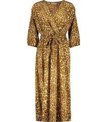 geisha 17080-21 760 jurk leopard with strap at waist tabacco/ecru