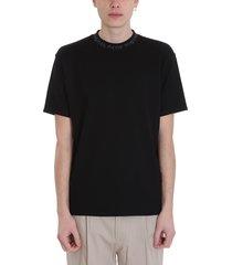 acne studios black cotton navid t-shirt