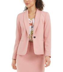 nine west textured shawl-collar blazer