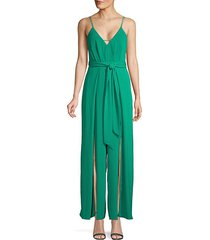 criscross belted jumpsuit