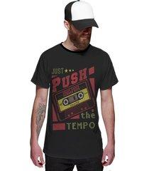 camiseta di nuevo fita cassete retrô preta