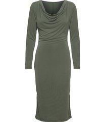 sxcody waterfall dress ls dresses bodycon dresses grön soaked in luxury