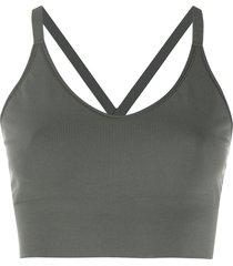 filippa k soft sport crossback seamless midi top - grey